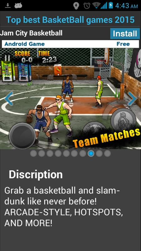 Top basketball games for android