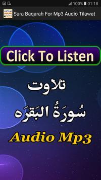 Sura Baqarah For Mp3 Audio App apk screenshot