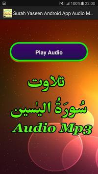 Surah Yaseen Android App Mp3 apk screenshot
