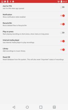 ACR запись звонков скриншот приложения