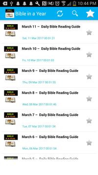 Read Bible in a Year- NLT poster