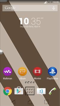 Theme Sepia Shadows for Xperia Poster