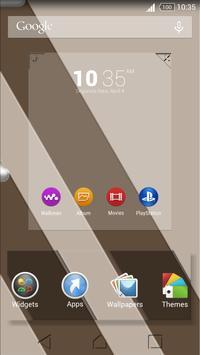 Theme Sepia Shadows for Xperia captura de pantalla 1