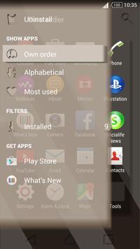 Theme Sepia Shadows for Xperia captura de pantalla 4