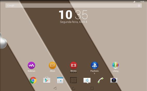 Theme Sepia Shadows for Xperia captura de pantalla 5