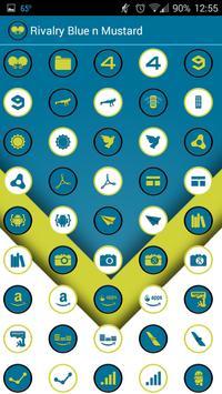 Rivalry Blue n Mustard Yellow apk screenshot
