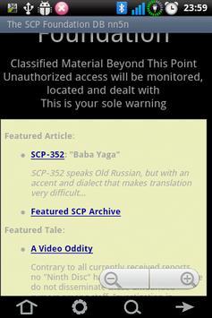 The SCP Foundation DB nn5n apk screenshot