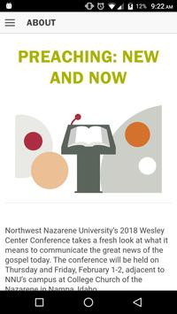 Wesley Center Conference poster