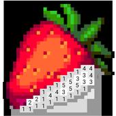 Número de jogo de colorir - No. Cor ícone