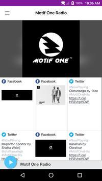 Motif One Radio poster