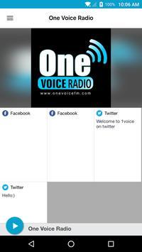 One Voice Radio poster