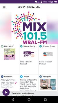 MIX 101.5 WRAL-FM poster
