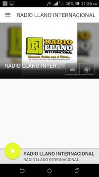 RADIO LLANO INTERNACIONAL poster