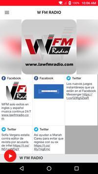 W FM RADIO poster