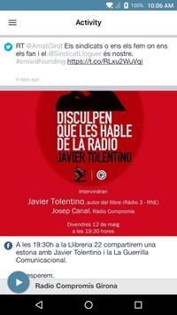Radio Compromís Girona apk screenshot