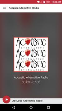 Acoustic Alternative Radio poster