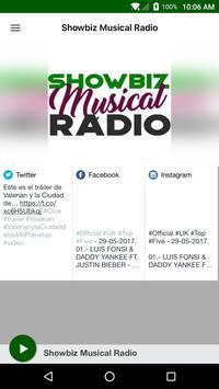 Showbiz Musical Radio poster