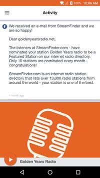 Golden Years Radio apk screenshot