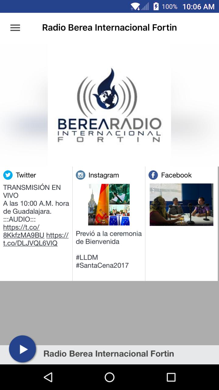 Radio Berea Internacional Fortin For Android Apk Download