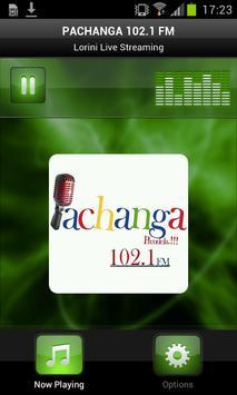 PACHANGA 102.1 FM poster
