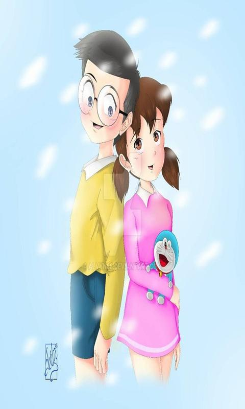 Nobita Shizuka Love Wallpapers For Android Apk Download