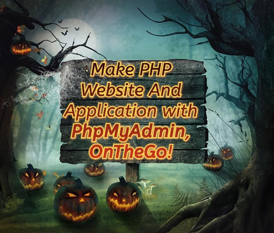 how to use phpmyadmin in android