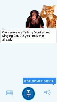 Talking Monkey vs Singing Cat apk screenshot