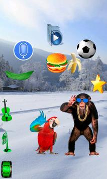 Talking Parrot vs Monkey Sing apk screenshot