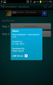 Noon Keyboard (International) apk screenshot