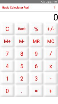 Basic Calculator Red poster
