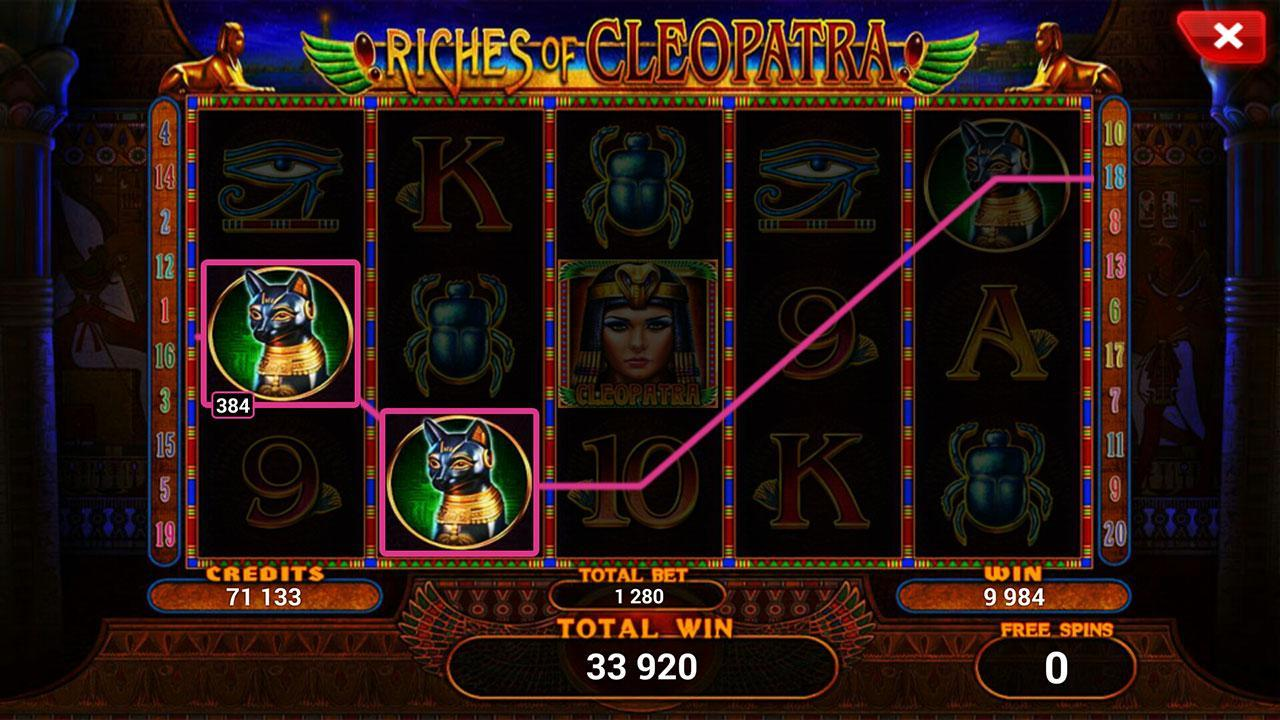 Riches of Cleopatra - slot poster