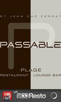 Plage de Passable poster