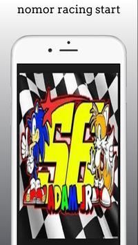 nomor racing start poster