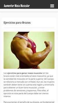 Aumentar Masa Muscular apk screenshot