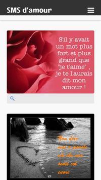 SMS d'amour screenshot 1