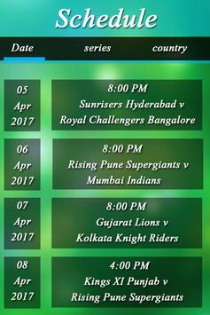 IPL Schedule 2017 apk screenshot