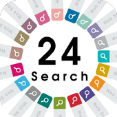 Flat 24Color Search Widget icon