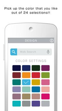 Flat 24Color Search Widget poster