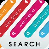 シンプルなカラフル簡単検索ウィジェット-24色-無料 icon