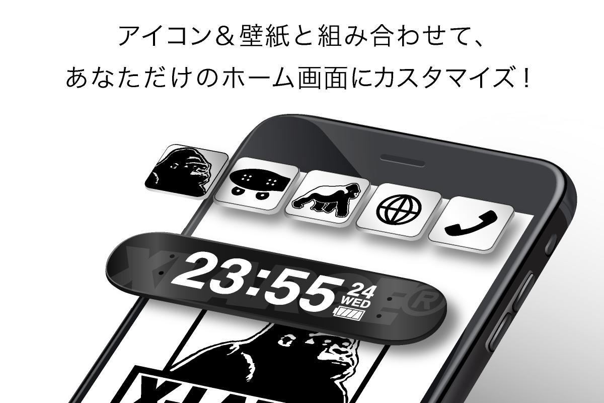 Android 用の エクストララージ Xlarge 時計 電池ウィジェット Apk をダウンロード