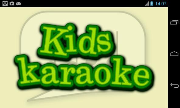 Kids Karaoke poster