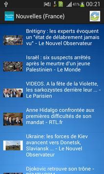 Nouvelles (France) poster