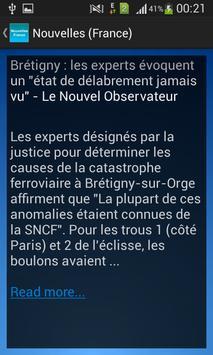Nouvelles (France) apk screenshot