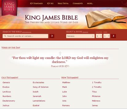 KING JAMES BIBLE screenshot 1
