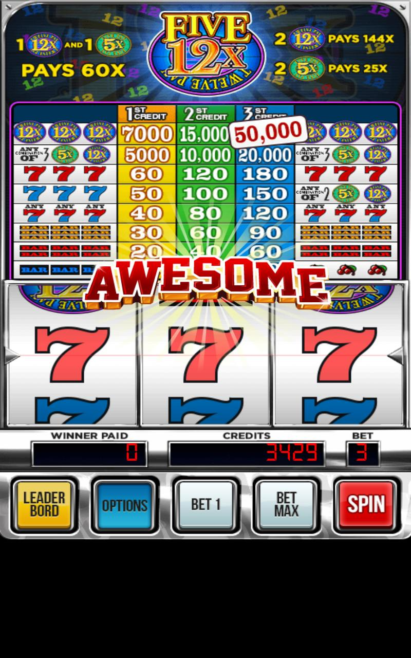Twelves Five Pay Deluxe Slot poster