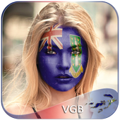 British Virgin Islands Flag Face Paint - PicEditor icon