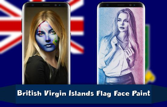 British Virgin Islands Flag Face Paint - PicEditor poster