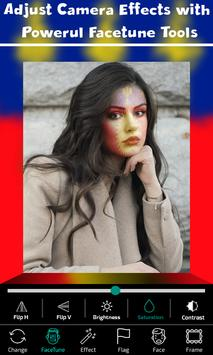Guadeloupe Flag Face Paint - Standard Photography screenshot 2