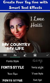 Haiti Flag Face Paint - Crystal Clear Photography screenshot 4