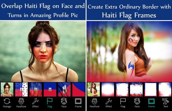 Haiti Flag Face Paint - Crystal Clear Photography screenshot 1